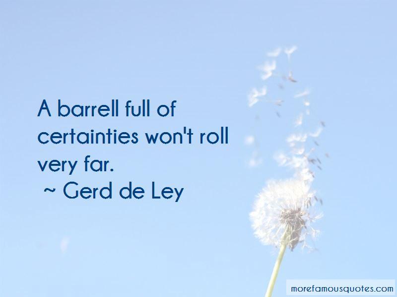 Gerd De Ley Quotes