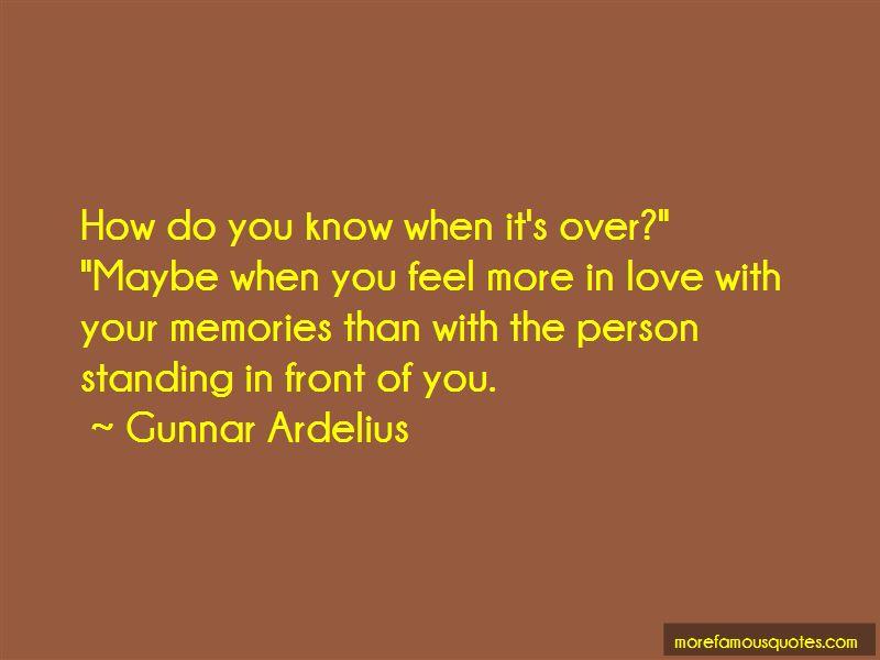 Gunnar Ardelius Quotes