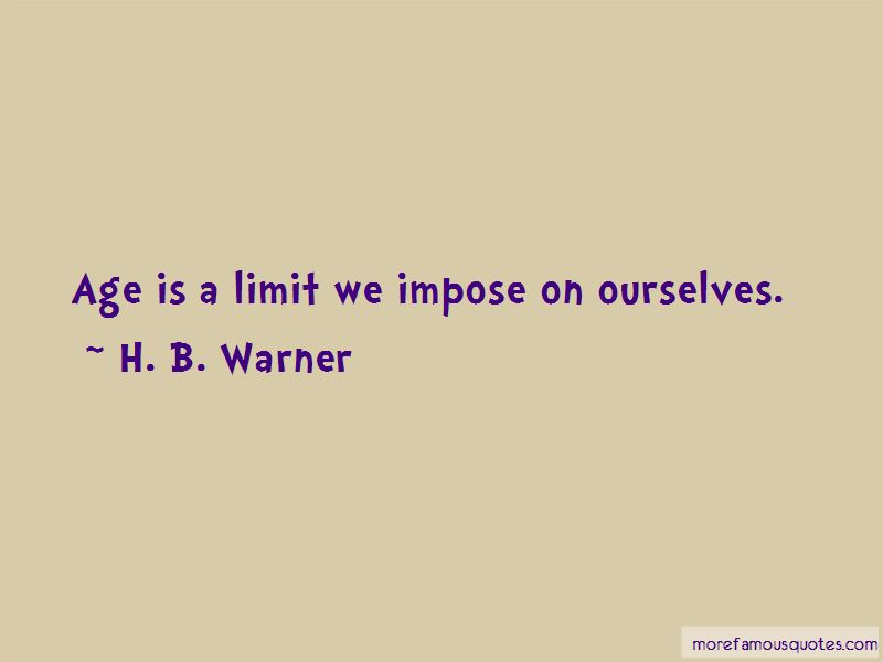 H. B. Warner Quotes