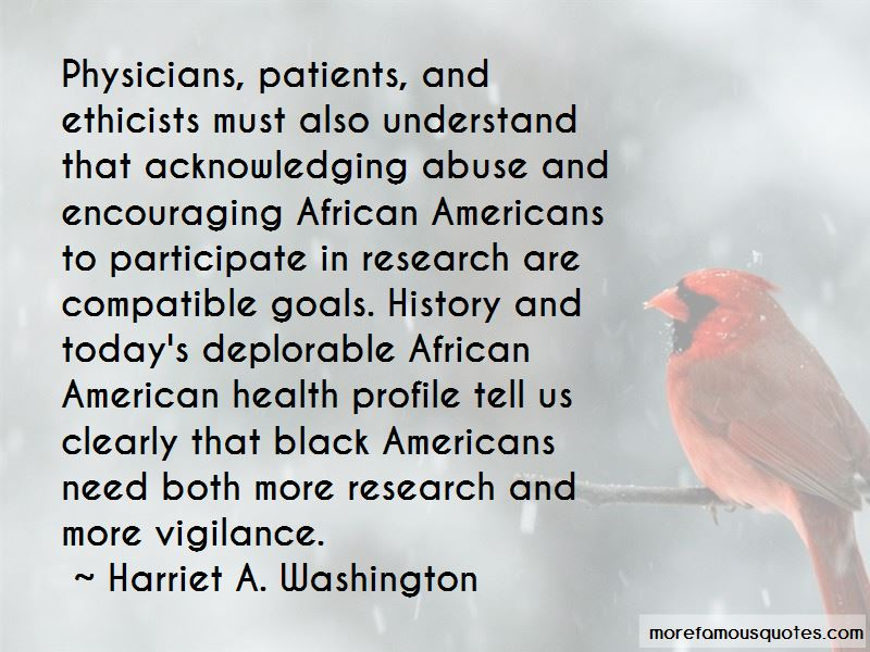 Harriet A. Washington Quotes