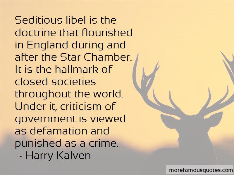 Harry Kalven Quotes