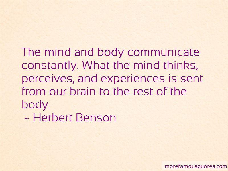 Herbert Benson Quotes