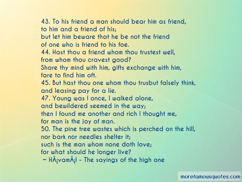 Havamal - The Sayings Of The High One Quotes Pictures 2