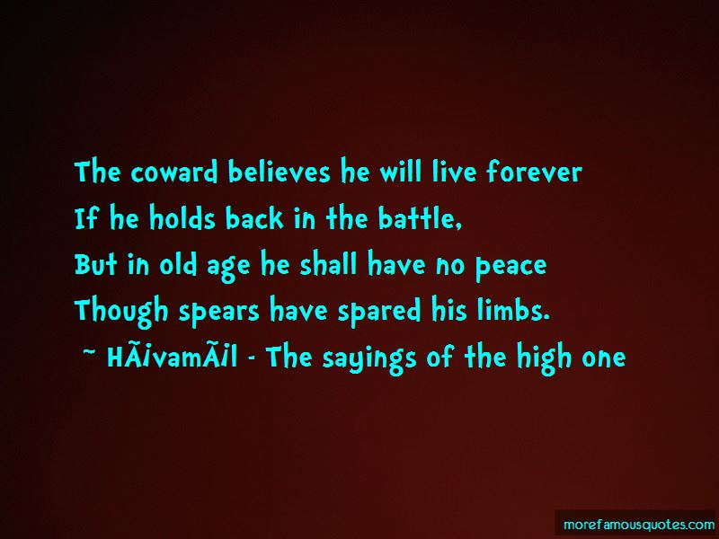 Havamal - The Sayings Of The High One Quotes Pictures 3