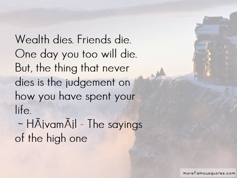 Havamal - The Sayings Of The High One Quotes Pictures 4