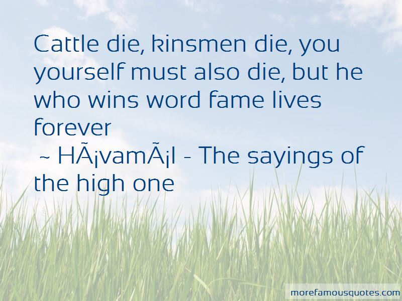Havamal - The Sayings Of The High One Quotes