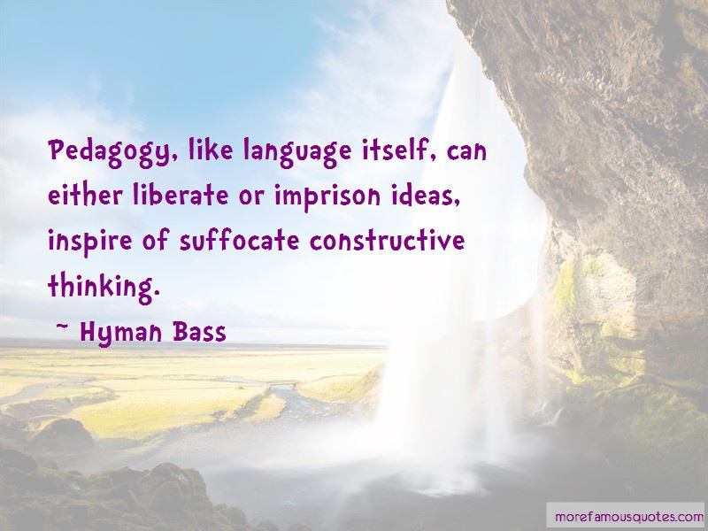 Hyman Bass Quotes