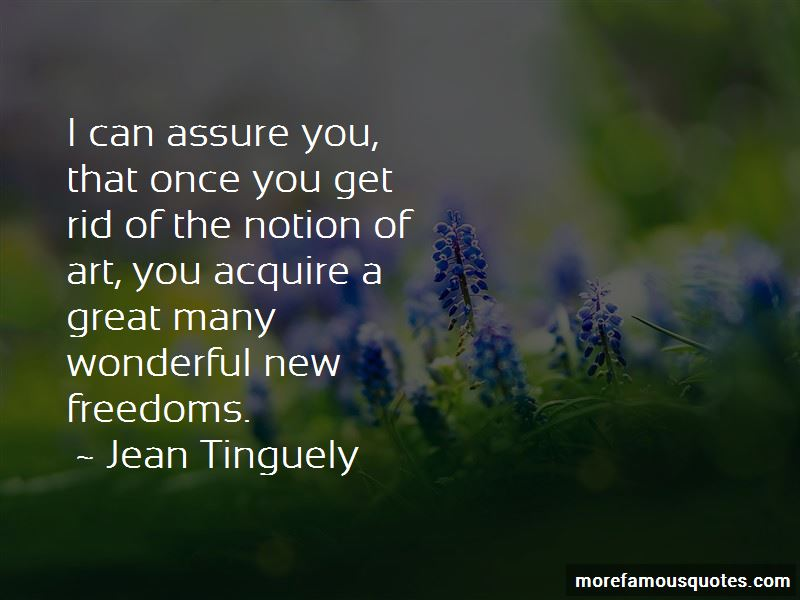 Jean Tinguely Quotes