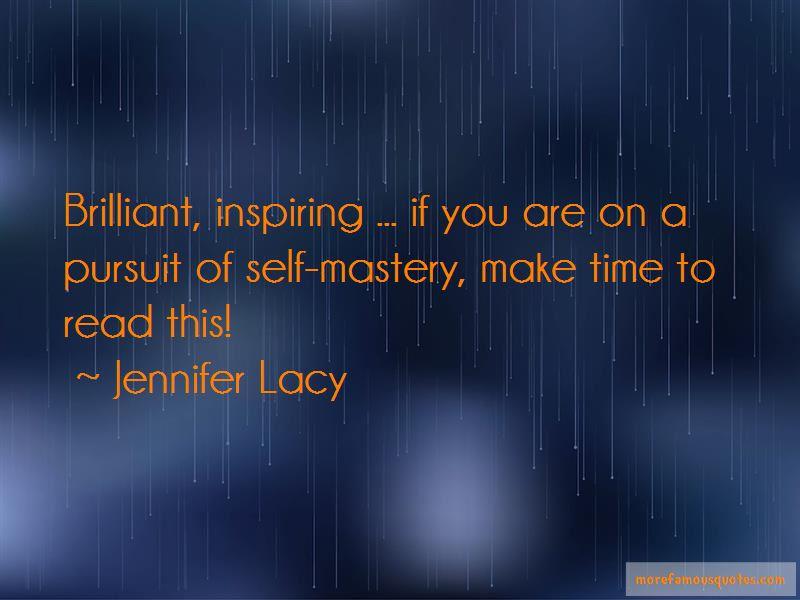 Jennifer Lacy Quotes