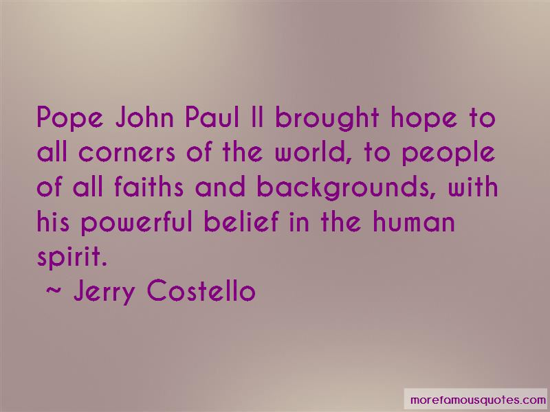 Jerry Costello Quotes