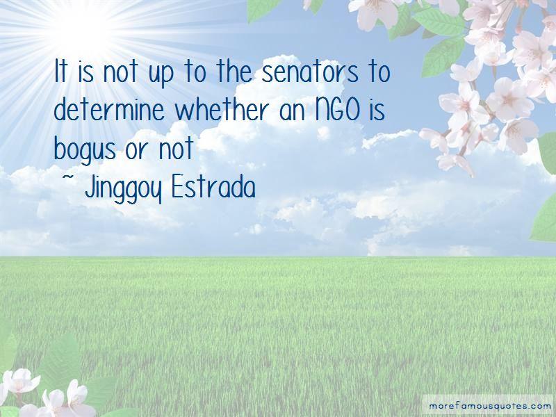 Jinggoy Estrada Quotes