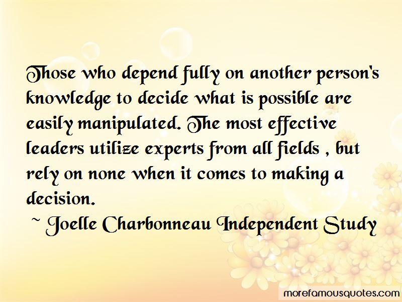 Joelle Charbonneau Independent Study Quotes Pictures 3