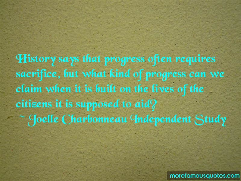 Joelle Charbonneau Independent Study Quotes