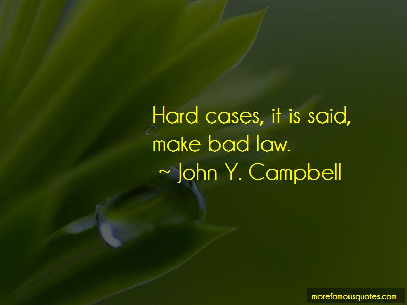 John Y. Campbell Quotes