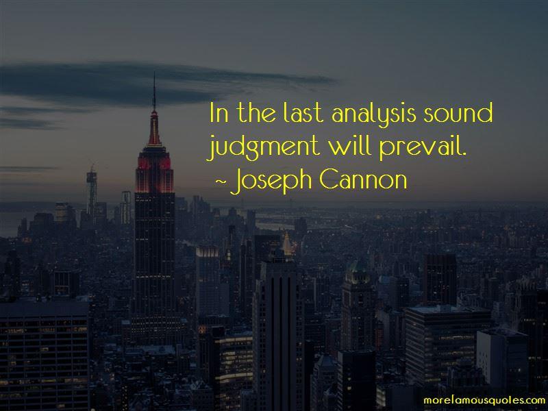 Joseph Cannon Quotes