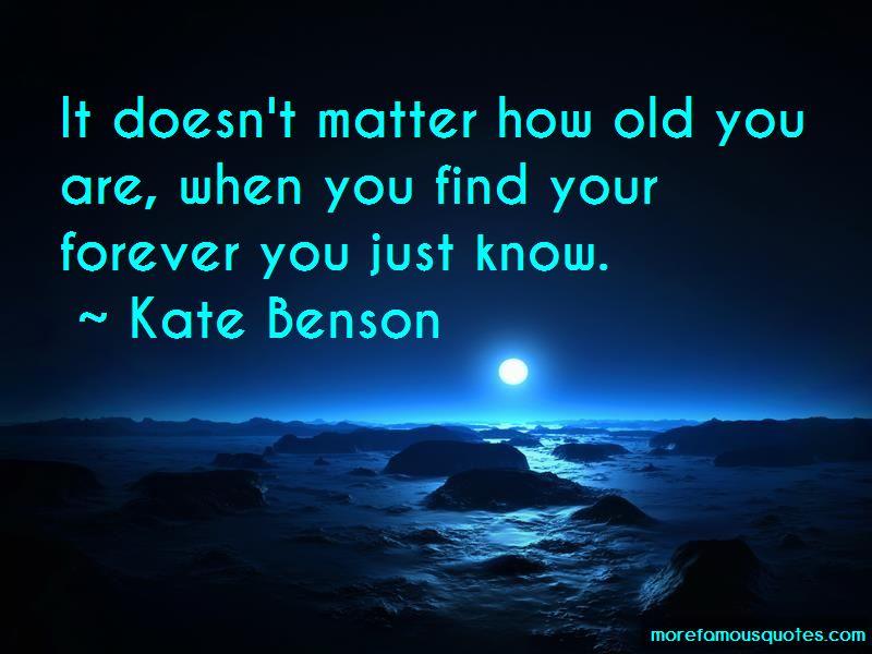 Kate Benson Quotes
