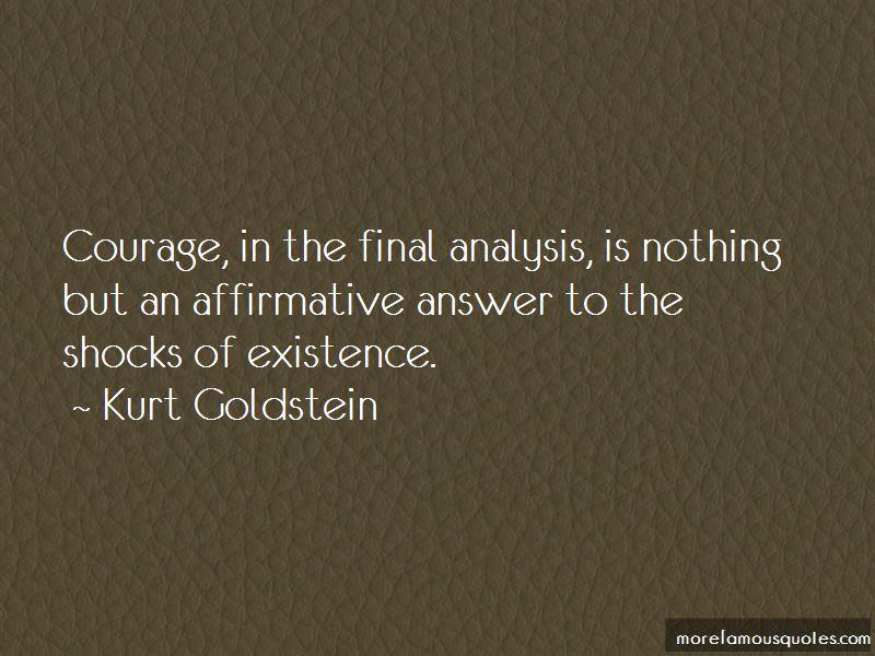 Kurt Goldstein Quotes