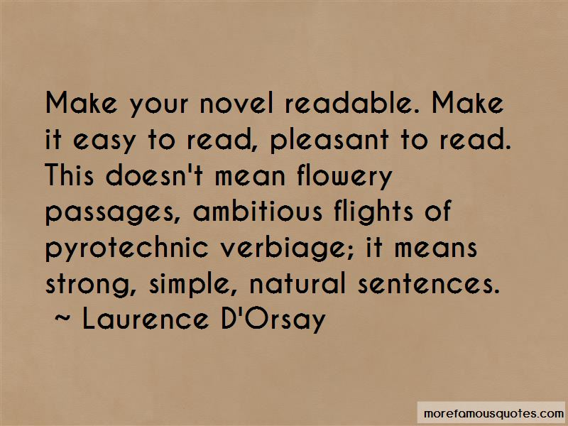 Laurence D'Orsay Quotes