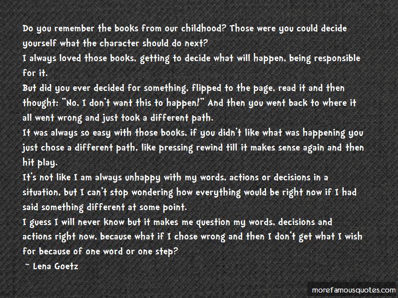 Lena Goetz Quotes