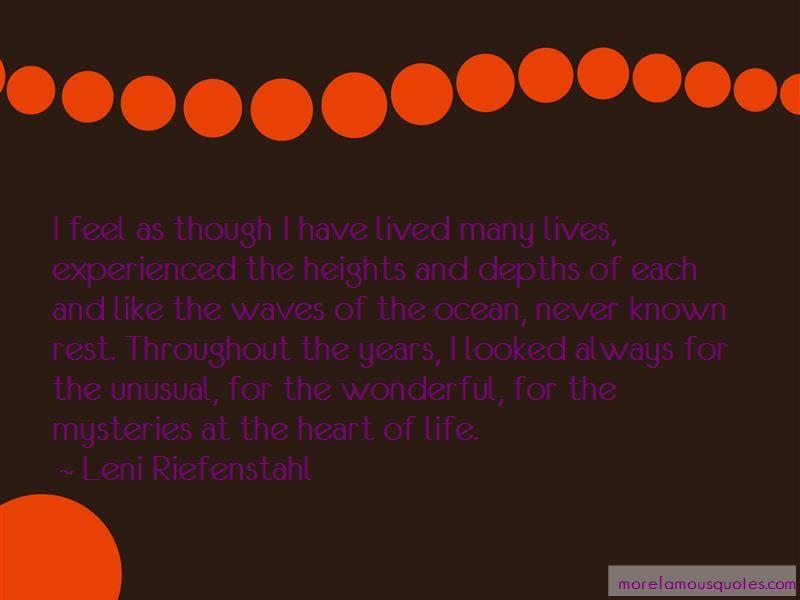Leni Riefenstahl Quotes