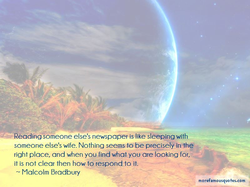 Malcolm Bradbury Quotes Pictures 2