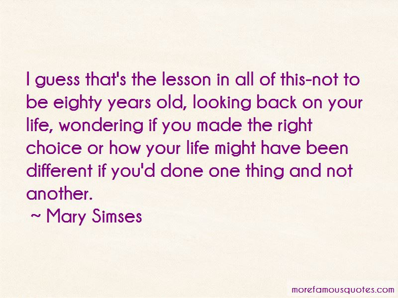 Mary Simses Quotes