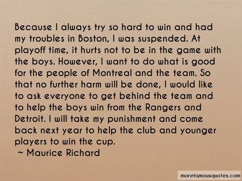 Maurice Richard Quotes