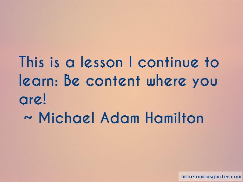 Michael Adam Hamilton Quotes Pictures 3