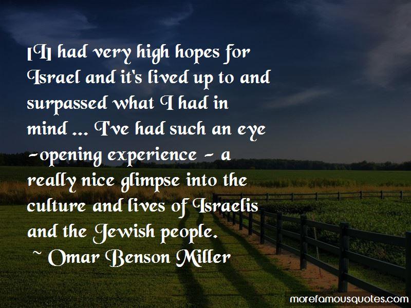 Omar Benson Miller Quotes