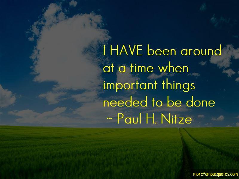 Paul H. Nitze Quotes