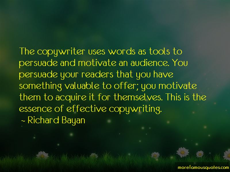 Richard Bayan Quotes