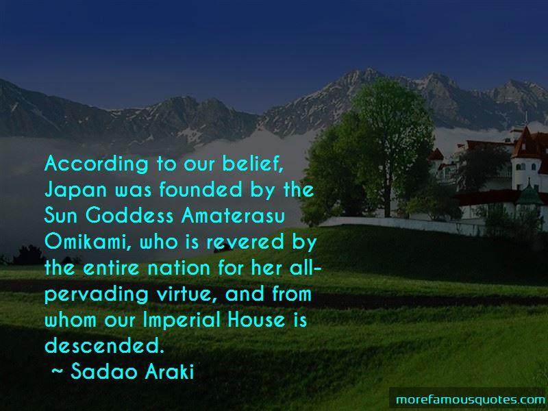 Sadao Araki Quotes Pictures 2