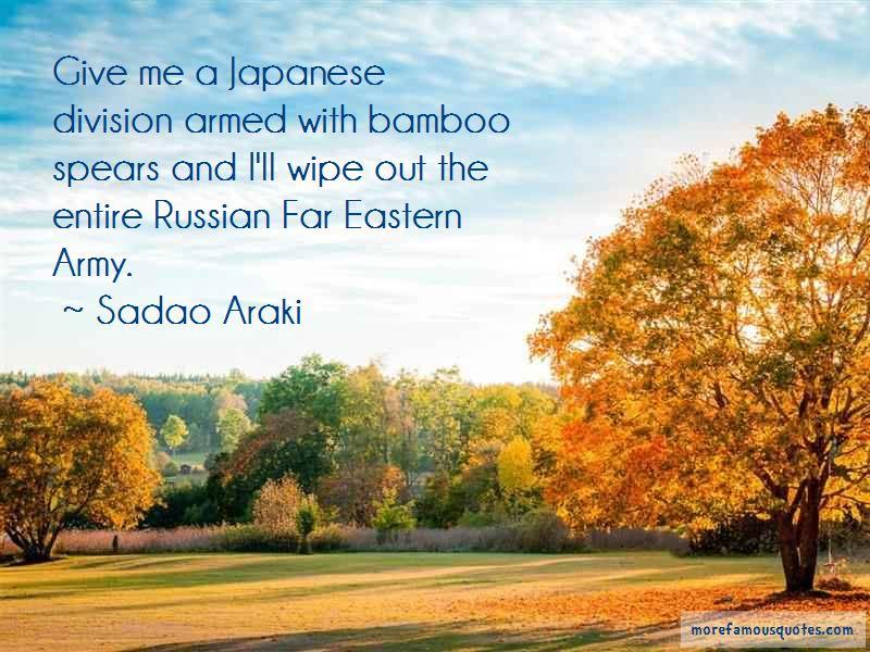 Sadao Araki Quotes Pictures 3