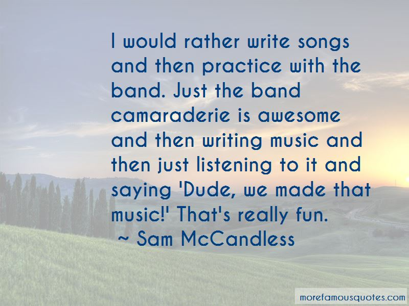Sam McCandless Quotes