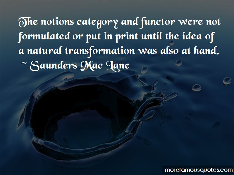 Saunders Mac Lane Quotes Pictures 3