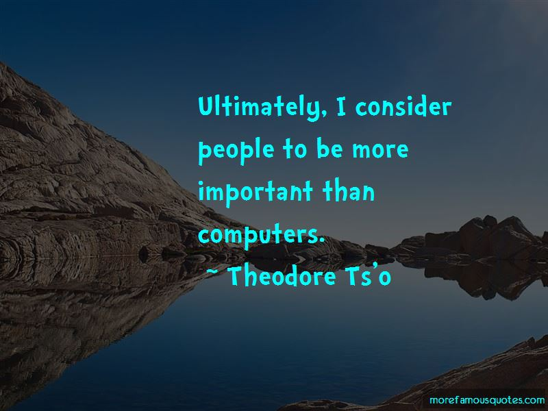 Theodore Ts'o Quotes