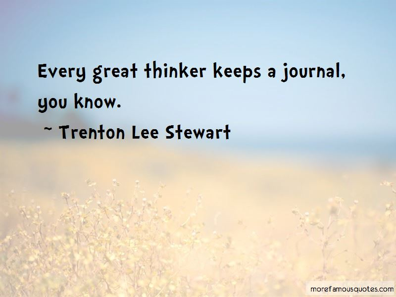 Trenton Lee Stewart Quotes Pictures 2