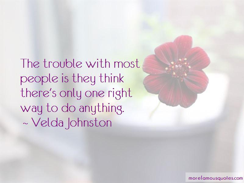 Velda Johnston Quotes