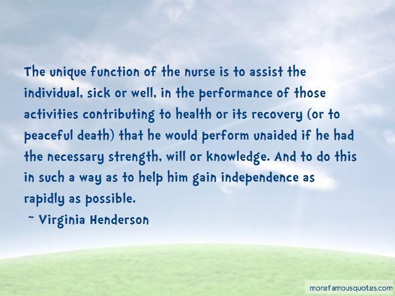 Virginia Henderson Quotes
