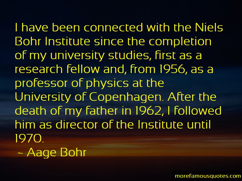 Aage Bohr Quotes