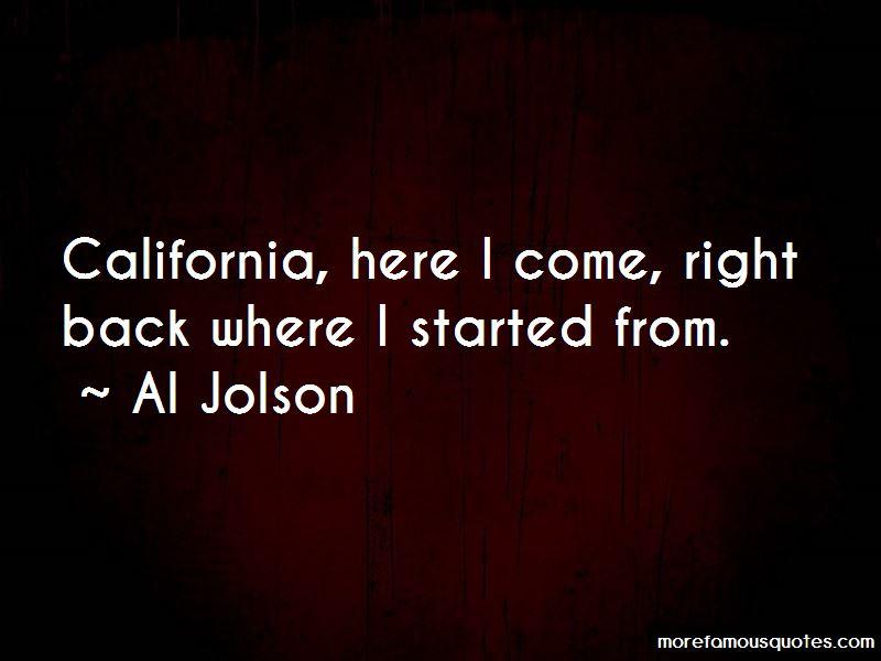 Al Jolson Quotes