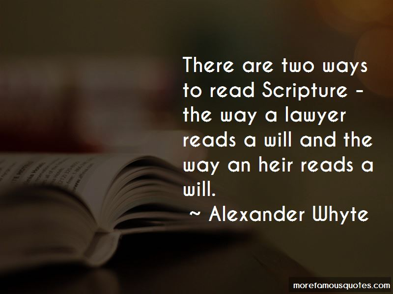 Alexander Whyte Quotes