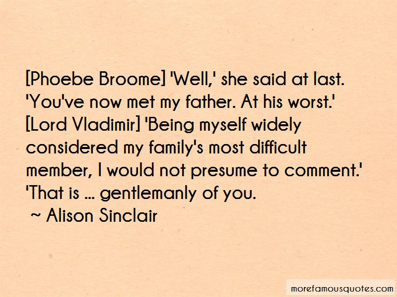 Alison Sinclair Quotes