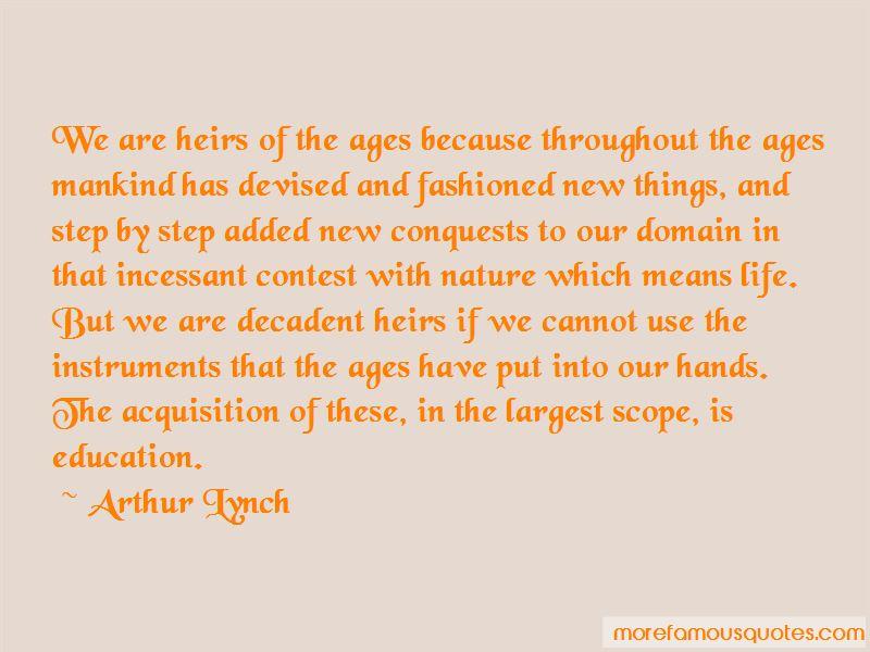Arthur Lynch Quotes