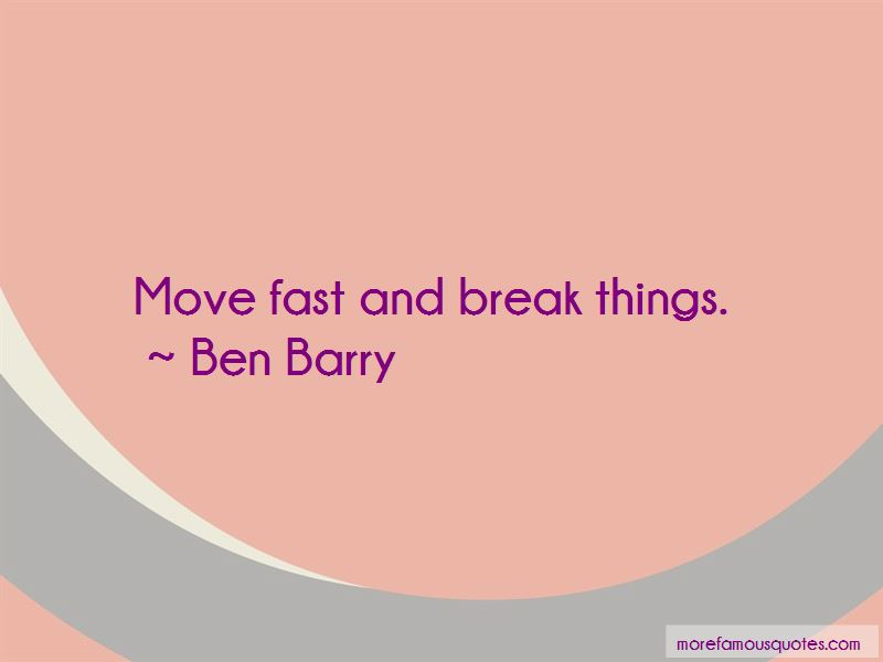 Ben Barry Quotes