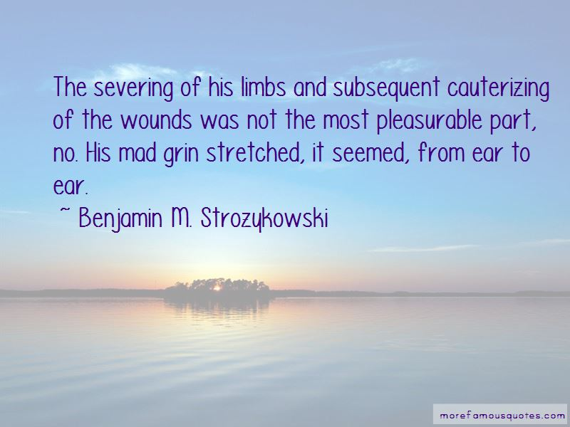 Benjamin M. Strozykowski Quotes Pictures 4