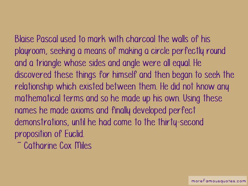 Catharine Cox Miles Quotes