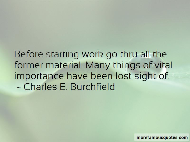 Charles E. Burchfield Quotes Pictures 4