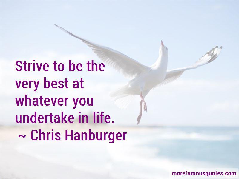 Chris Hanburger Quotes Pictures 3