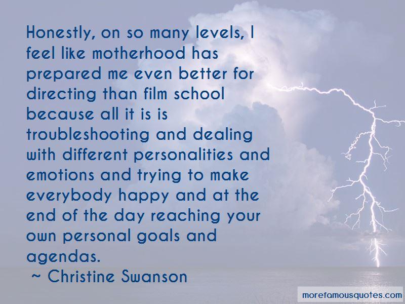 Christine Swanson Quotes